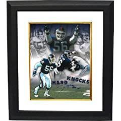 Buy Lawrence Taylor signed New York Giants 16X20 Photo HOF 99 Custom Framed (Hard Knocks Collage)- JSA... by Athlon Sports Collectibles