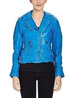 Maze Cazadora Piel Colbynord Asymetric Biker Jacket (Azul)