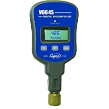 "Supco VG64S   Vacuum Gauge With Single Port, Digital Display, 0-12000 microns Range, 10% Accuracy, 1/4"" Male Flare Fitting Connection"