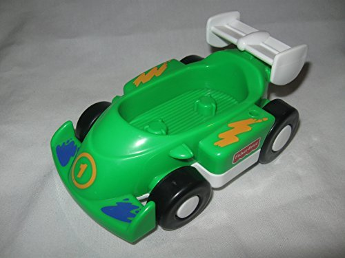 Fisher Price Little People Race Track Replacement Car GREEN Seats 2 People OOP - 1