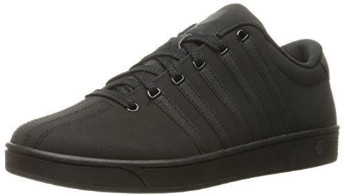 K-Swiss Men's Court Pro II ReflectiveCMF Fashion Sneaker, Black/Black, 10.5 M US