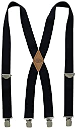 Dickies Men\'s 1-1/2 Solid Straight Clip Suspender,Navy,One Size