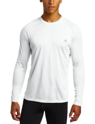 bdc9115040513 The Champion Double Dry Core men s long-sleeve tee is a durable workout top  that s ready for the gym. It s crafted using the moisture-wicking Double  Dry ...