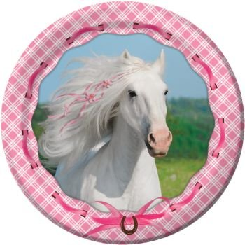 Heart My Horse Luncheon Plate 6 7/8 in (8) Birthday Party Supplies