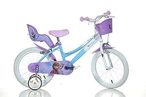 FROZEN 16 inch Original Dino-Bikes dolly basket training wheels