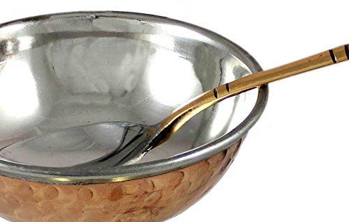 Coupe de crème glacée avec des desserts de vaisselle cuillère en cuivre inox, diamètre 10 cm