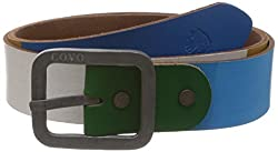 Covo Blue Leather Men's Casual Belt (BJ40CA10036)