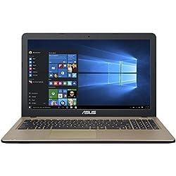 "ASUS F540SA-XX068T - Portátil de 15.6"" (Intel Celeron N3050, Disco duro de 500 GB, 4 GB de RAM, tarjeta grafica integrada) chocolate negro - teclado QWERTY Español"