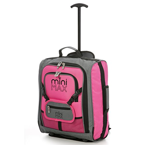 minimax-childrens-kids-cabin-luggage-carry-on-trolley-suitcase-with-backpack-and-pouch-for-your-favo