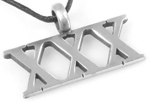 Dan Jewelers Triple X XXX Pewter Pendant Necklace