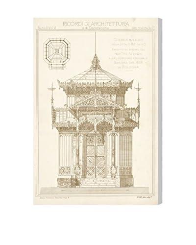 The Art Cabinet Chiosco in Legno Canvas Print