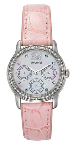 Accurist Ladies Stone Set Bezel Watch with Interchangeable Straps - LS180P