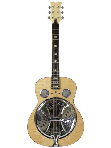 Dean Spider Quilted Maple Resonator Guitar - Gloss Natural