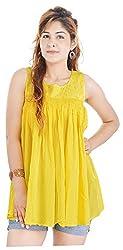 Shop Avenue Women's A-Line Dress (Yellow )