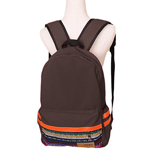 ab45d50ff21d Nasis new summer national style ladies handbags backpack canvas shoulder bag  school students AL5002 (coffee