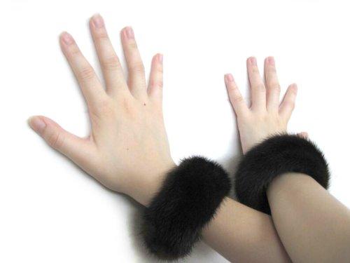 Mahogany Mink Bracelets & Slap-on Cuffs Pair