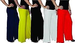 Xarans Sharara Stylish Looking Multicolor Palazzo Set of 5