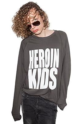 Heroin Kids Logo Statement Design Sweatshirt