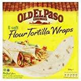 Old El Paso 6 X Soft Flour Tortillas Wraps 350G