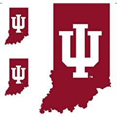 Buy NCAA Indiana Hoosiers - 3 Large Wall Accent College Murals Stickers by store51.com