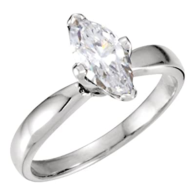 Marquise Diamond Solitaire Engagement Ring 14ct 0.93 Ct, F , SI2 IGL Certified