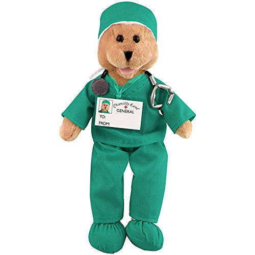 Animated Singing And Swaying Green Scrubs Nurse Or Doctor Teddy Bear Plush (Doctor Bear compare prices)