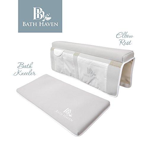 Premium Bath Kneeler and Elbow Rest, Knee Pad and Elbow Support for Bathtub (Bath Kneeling Pad compare prices)