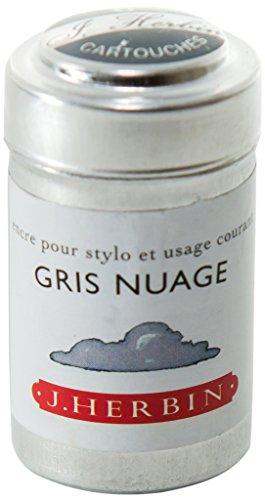 Herbin Boîte de 6 cartouches d'encre standard Gris nuage