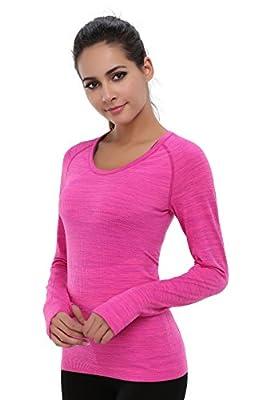 BAOMOSI Performance Women's Ultimate Yoga Long-Sleeve Run Tee Shirt