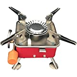 New Wayzon Outdoor Camping Stove Gas-powered Stove Stable Square Cookout Butane Burner