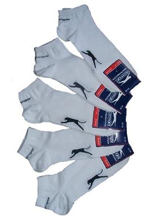 Chaussettes invisible mini Slazenger pour hommes (lot de 5 paires) (40-47, Blanc)