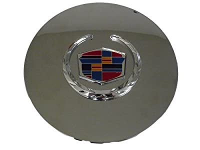 Set of 4 Otis Inc LA Cadillac Seville, Deville, El Dorado, DTS Chrome Wheel Center Cap with Chrome Wreath and Crest