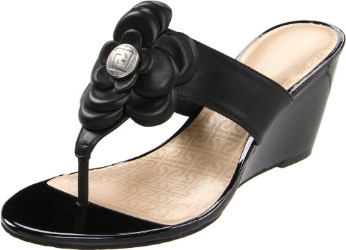 Rockport Womens Nicoleen Jewel Flower Wedge Sandal