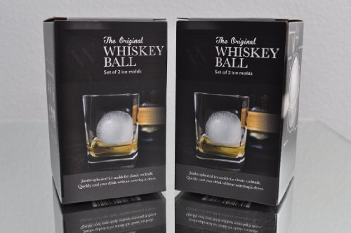 The Bourbon Ball (4 Pack) Ice Whiskey Ball Mold – Ice Sphere Mold – The Scotch Ball Jumbo Silicone Ice Ball Maker – Sold Only By Wholesale Prices 4 U