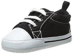 Luvable Friends Basic Canvas Sneaker (Infant), Black, 6-12 Months M US Infant
