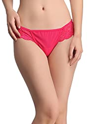 Clovia Lacy Powernet Panty In Hot PinkPN0501P14-XL