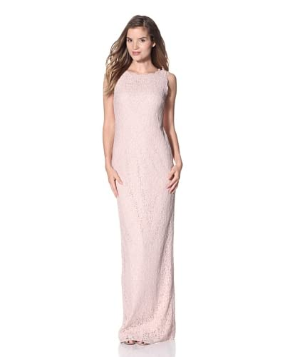 Adrianna Papell Women's Sleeveless Lace Gown  - Blush