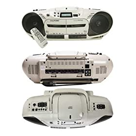 Califone 14W Dual Cassette Variable Speed CD Player - 2455AV-03