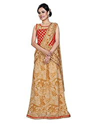Surat Tex Beige & Red Color Georgette Embroidered Stitched Designer Gown-J115GN2021
