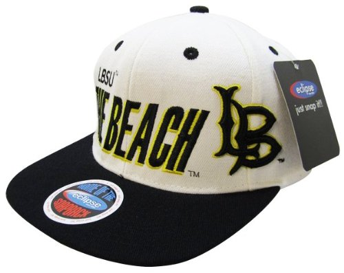 NCAA Long Beach State 49ers Big N' Bold Style Snapback Hat, White/Black at Amazon.com