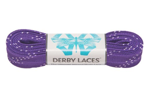 Purple 84 Inch Waxed Skate Lace - Derby Laces for Roller Derby, Hockey and Ice Skates, and Boots