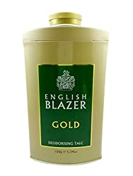 English Blazer 100% Authentic Gold Deodorising Talc - 150 Grams!