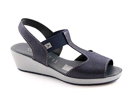 CINZIA SOFT 8263 blu scarpe sandali donna pelle comfort passeggio made in italy 41