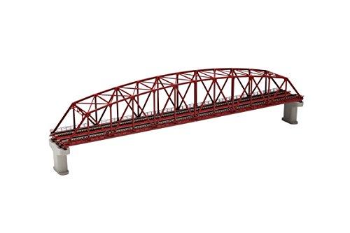 Tomytec 032212 - Gitterbrücke, Modelleisenbahnzubehör, 2-spurig, rot