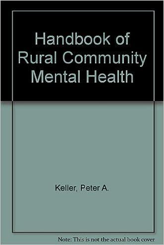 Handbook of Rural Community Mental Health