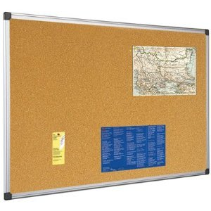 Cork Notice Board 1800x1200mm Aluminium