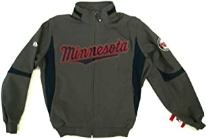Mens Road (Granite) Minnesota Twins Authentic Therma Base Jacket by Maestic