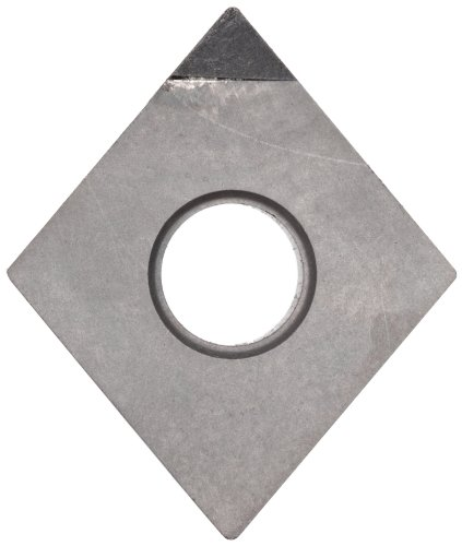 American Carbide Tool Polycrystalline Diamond Tipped Insert, Pcd13 Grade, Cnga-432 Style, 1/2-Inch Ic Size
