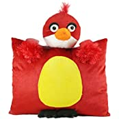 Tickles Red Angry BIrd Cushion Stuffed Soft Plush Toy Love Girl 35 Cm