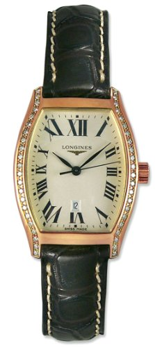 Longines Evidenza 18kt Rose Gold & Diamond Womens Luxury Watch L2.155.9.71.0